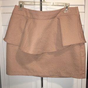 Light pink peplum mini skirt!